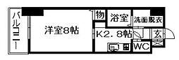 アップル第7マンション[602号室]の間取り