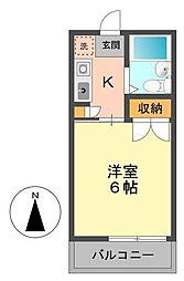 東京都江戸川区北小岩5丁目の賃貸アパートの間取り