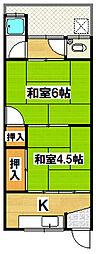 錦荘[1階]の間取り