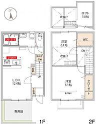 [テラスハウス] 神奈川県横浜市港北区樽町4丁目 の賃貸【/】の間取り