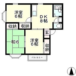 ドミールMURO[2階]の間取り