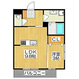 カーサ京町[101号室]の間取り