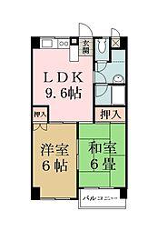 エンブレム東大沢[302号室]の間取り