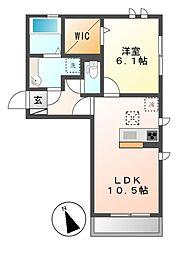 (仮)D-room荒子町[2階]の間取り