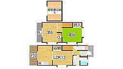 [テラスハウス] 大阪府東大阪市新庄3丁目 の賃貸【大阪府 / 東大阪市】の間取り
