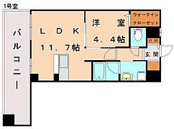 新宮ステーションビル[4階]の間取り
