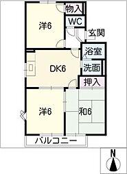 ガーデニア C棟[1階]の間取り