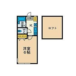 メゾンド・モナーク[1階]の間取り