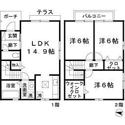 [テラスハウス] 大阪府茨木市庄 の賃貸【/】の間取り