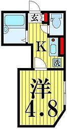 東京都足立区足立4の賃貸アパートの間取り