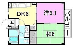 フォブールフライブルグ[103号室]の間取り