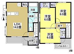 [タウンハウス] 静岡県浜松市中区蜆塚3丁目 の賃貸【/】の間取り