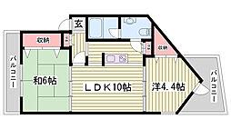 兵庫県神戸市西区王塚台4丁目の賃貸マンションの間取り