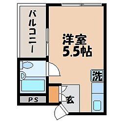 長崎県長崎市若葉町の賃貸マンションの間取り