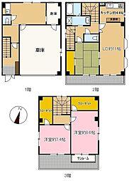 [一戸建] 神奈川県横浜市神奈川区子安通2丁目 の賃貸【/】の間取り