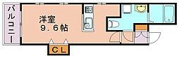 ルミウス中洲[2階]の間取り