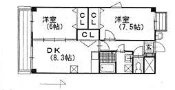 アーヴァンシティー中島田[3階]の間取り