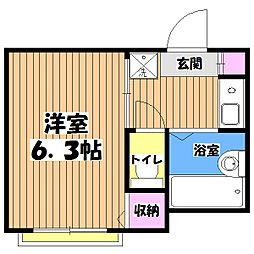 東京都日野市南平5の賃貸アパートの間取り