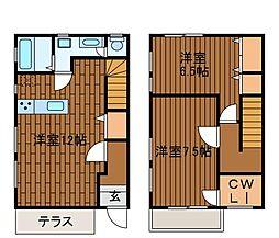 [テラスハウス] 神奈川県川崎市麻生区百合丘2丁目 の賃貸【/】の間取り