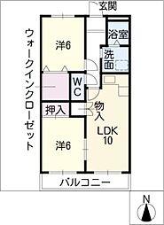 ピア・ハウス[1階]の間取り