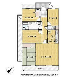 東建ニューハイツ北鴻巣[3階]の間取り