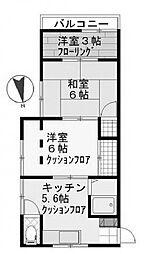 第2日興荘[2階]の間取り