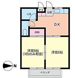 メイジー・S[2階]の間取り