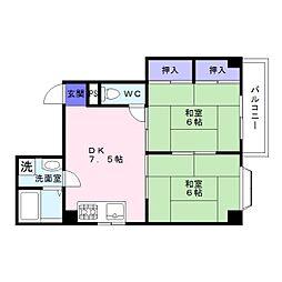 コーポ3丁目[4階]の間取り