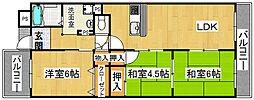 ナウボ1[5階]の間取り