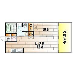 プロニティB[2階]の間取り