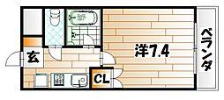 ウエストヒル[2階]の間取り