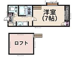 K&Y竹下[201号室]の間取り
