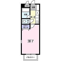 サウスリバー平成[2階]の間取り