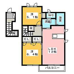 pasania385[2階]の間取り