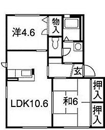 三井ハイツ[2階]の間取り