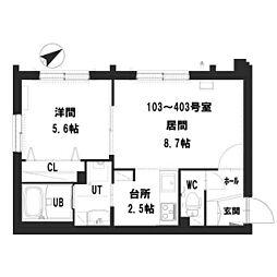 仮)グランメール 宮の沢2-1II 4階1LDKの間取り