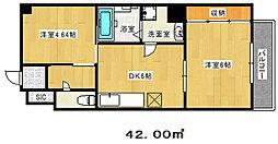 兵庫県神戸市中央区大日通3丁目の賃貸マンションの間取り