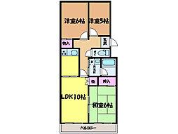 愛媛県松山市井門町の賃貸マンションの間取り