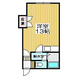 シャルム新富[2階]の間取り