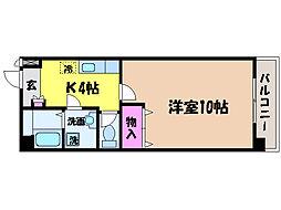 愛媛県松山市二番町1丁目の賃貸マンションの間取り