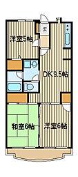 クレインパレス南大泉[2階]の間取り