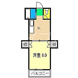 ガーデンタワー[3階]の間取り