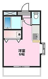 Sハイム宮崎[2階]の間取り
