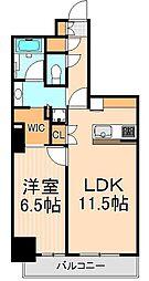 ザ・パークハビオ上野[702号室]の間取り