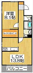 IL ROSSO堀川六角[1302号室]の間取り