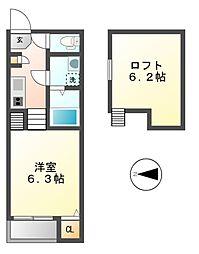 ナゴミ(NAGOMI)[1階]の間取り