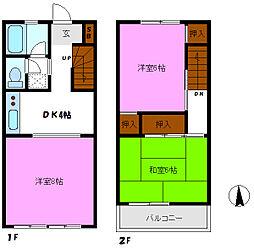 [テラスハウス] 千葉県松戸市大金平3丁目 の賃貸【千葉県 / 松戸市】の間取り
