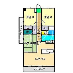 ユニテ・ラ・メールII[2階]の間取り