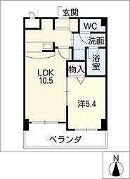 シャンクレール[8階]の間取り