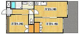 鹿児島県姶良市平松の賃貸アパートの間取り